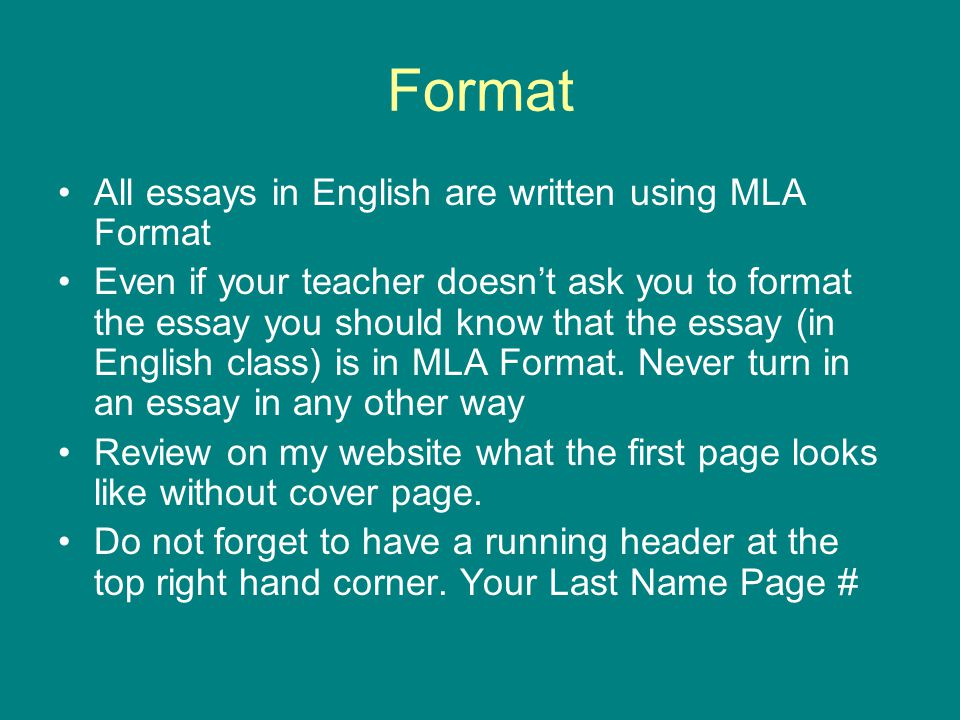 english mla essay Mla style is the preferred system for citing sources in scholarly writing for courses, papers, and publishing in the literary humanities—notably for english, but also for literary, language, and folklore topics based in other languages.