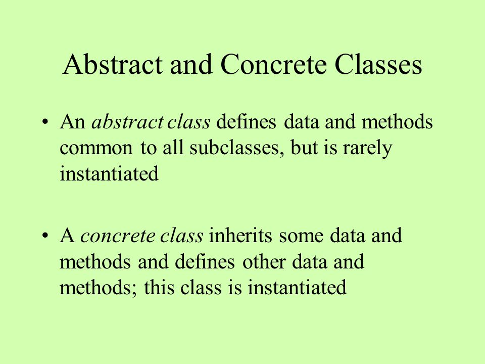 how to call a method in an abstract class