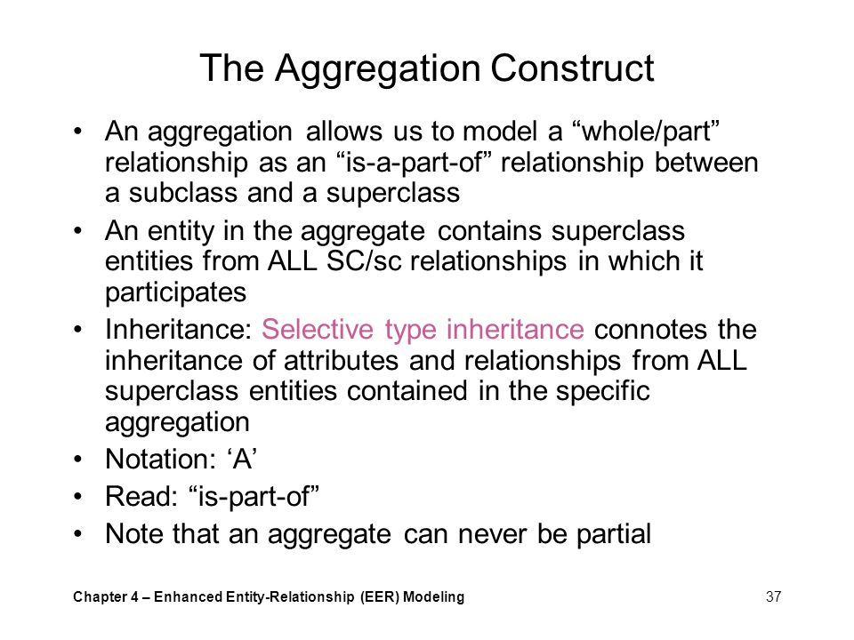 The Aggregation Construct