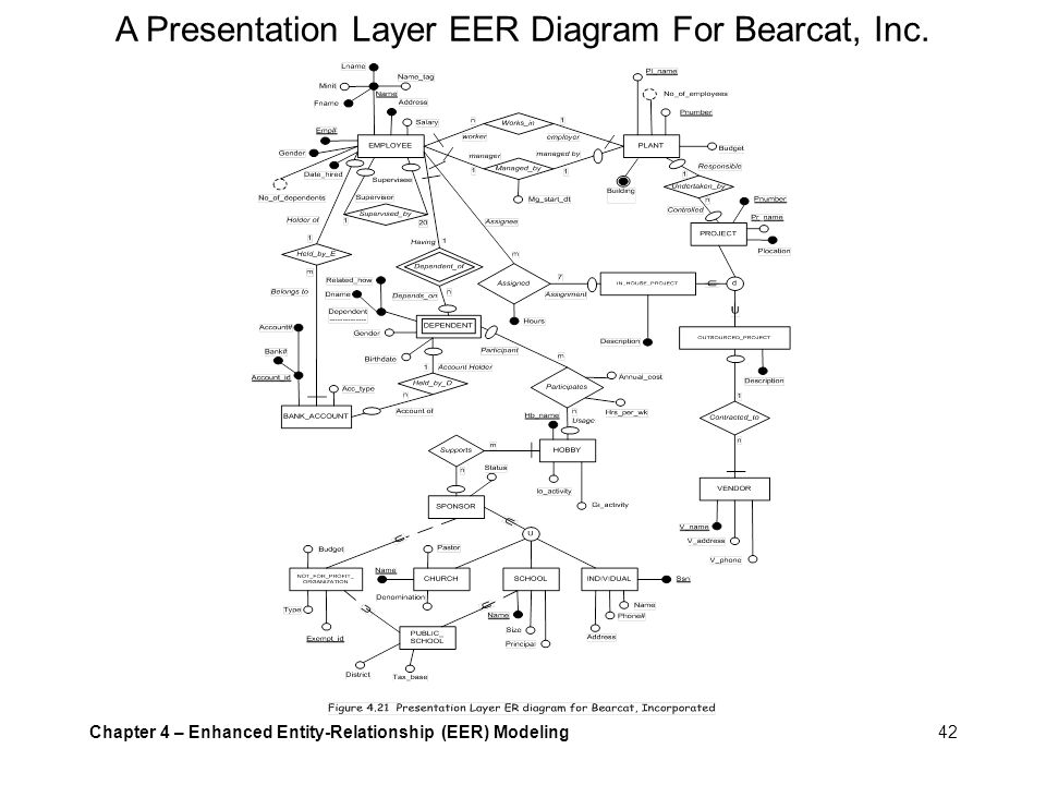 A Presentation Layer EER Diagram For Bearcat, Inc.