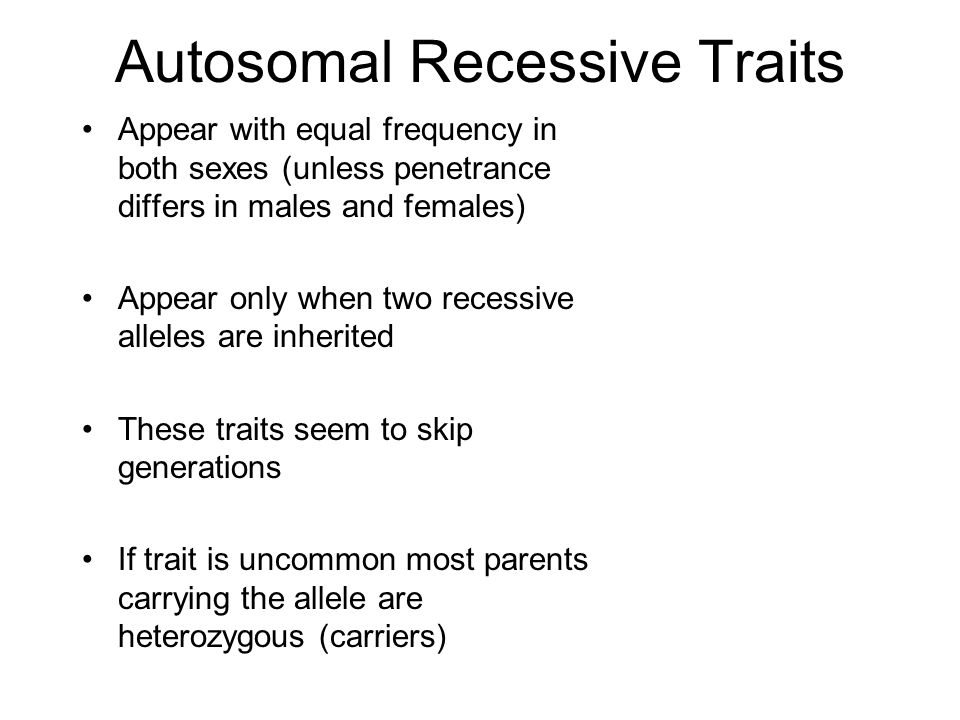 Autosomal Recessive Traits