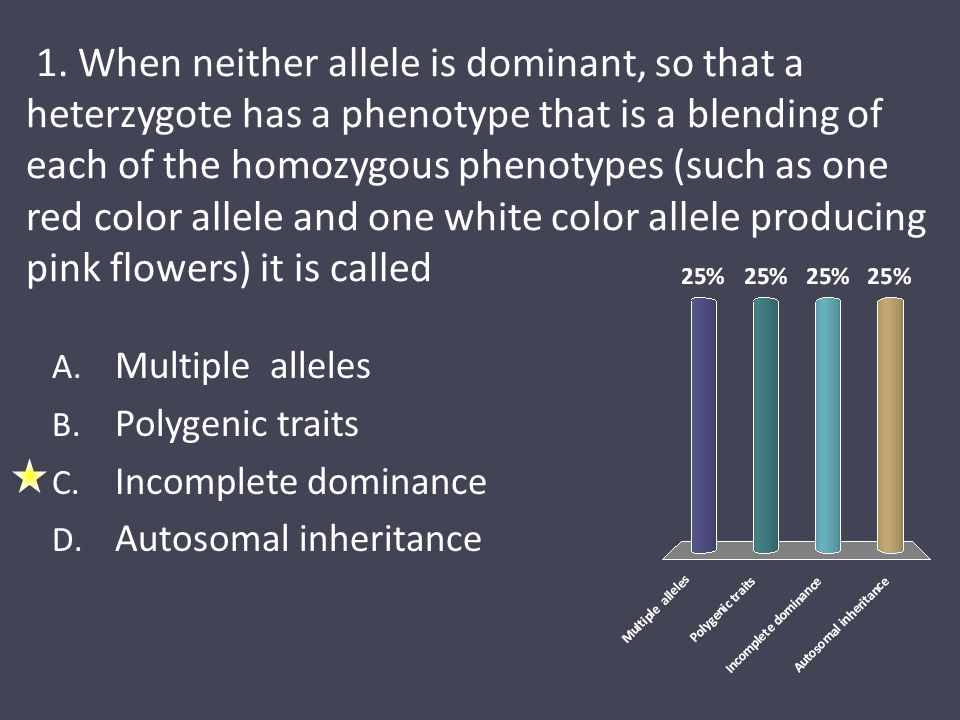 1 allele and dominant phenotype Page 1 of 11 unit 1 review answer key 1  the dominant allele masks the expression  the allele phenotype is only seen in a homozygous genotype it.