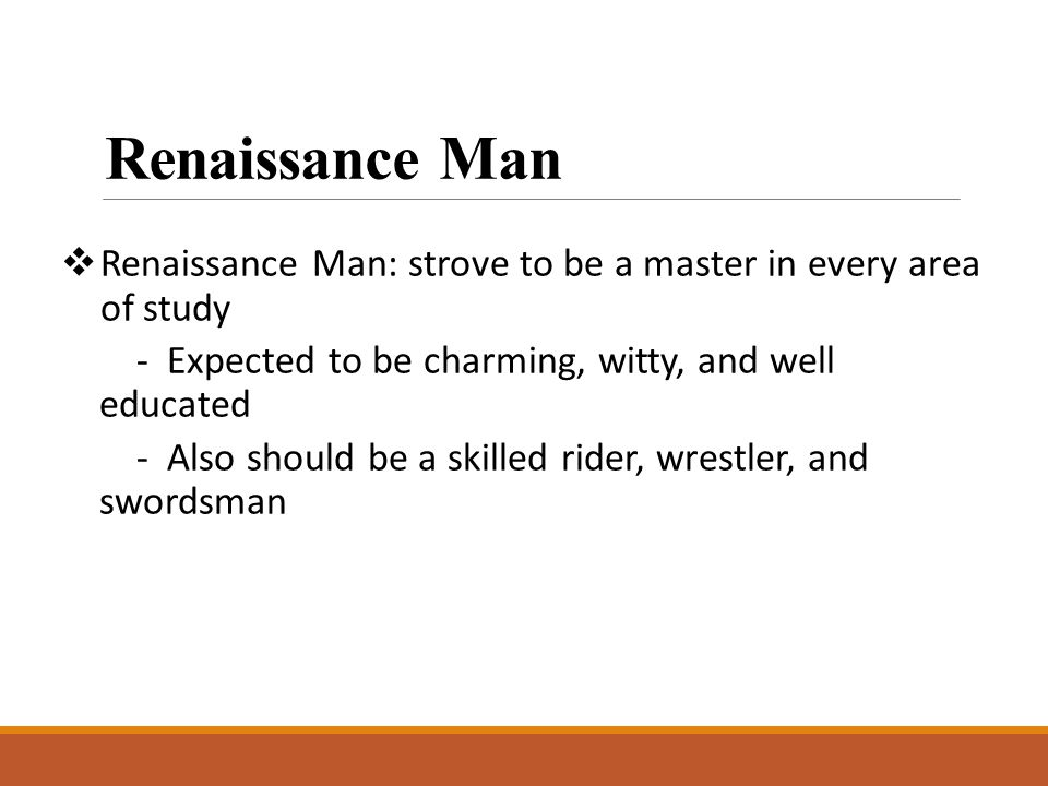 an analysis of renaissance man In doing so, it presents a side of the archetypal renaissance man that  kemp  added: it was the thinking and analysis behind them, and the.