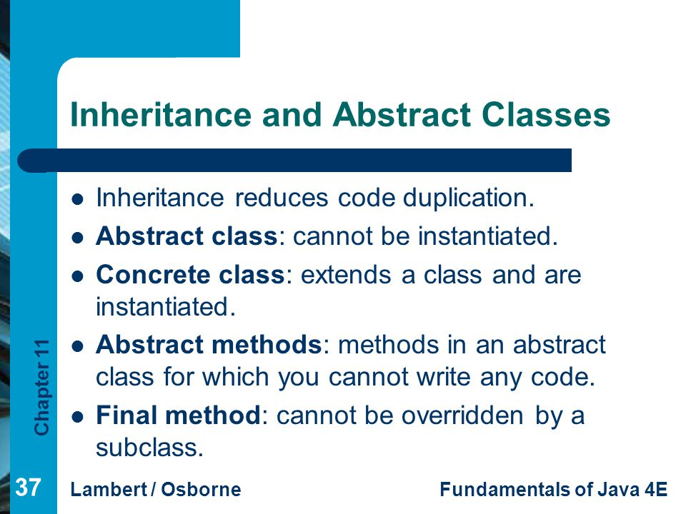 write abstract class java