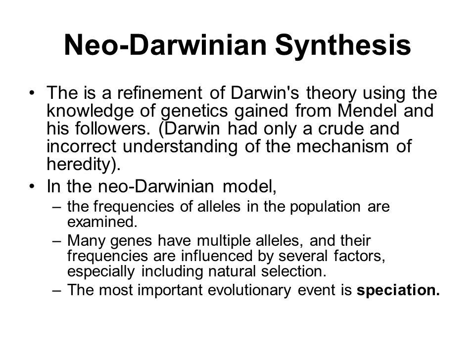 Neo-Darwinian Synthesis
