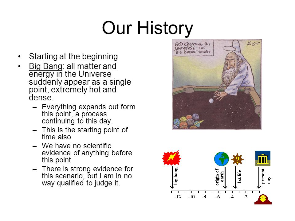 Our History Starting at the beginning