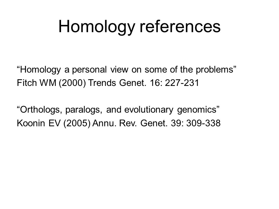 Homology references