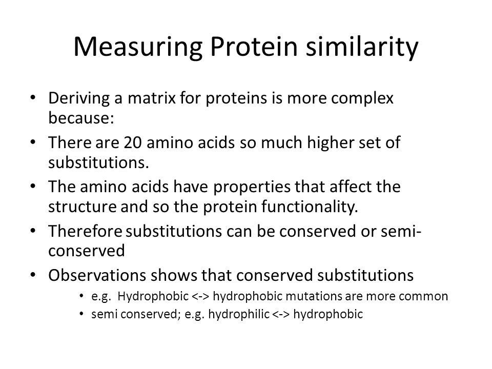 Measuring Protein similarity