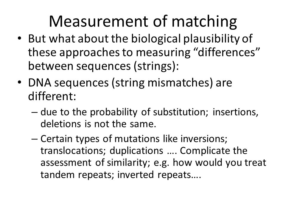 Measurement of matching