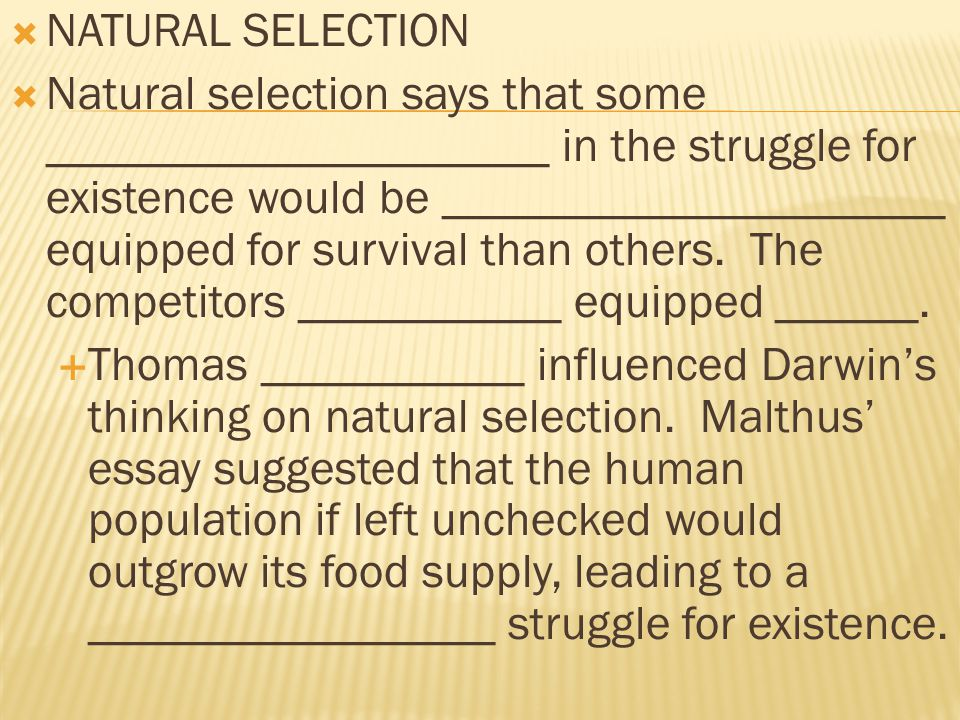 ch evolution ppt  7 natural selection