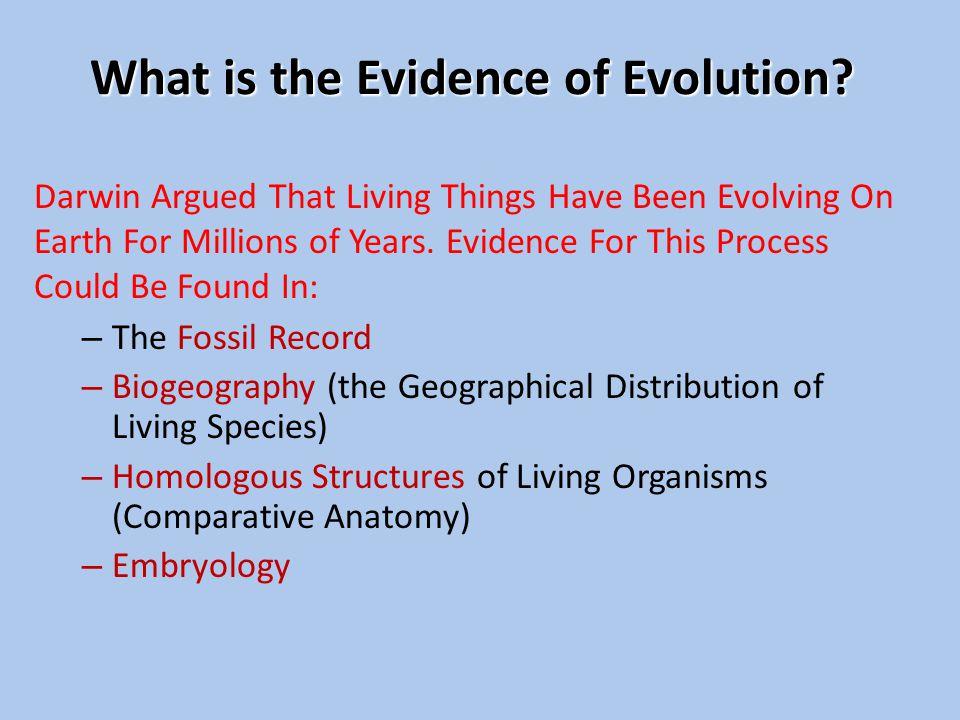 Evidence For Evolution Ppt Video Online Download