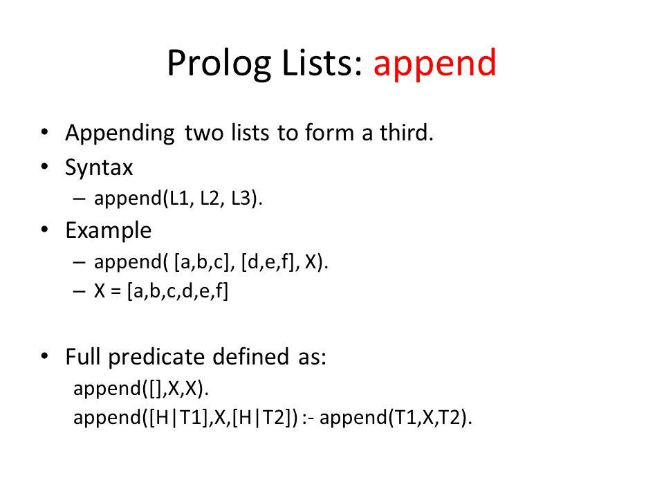 prolog programming language tutorial pdf