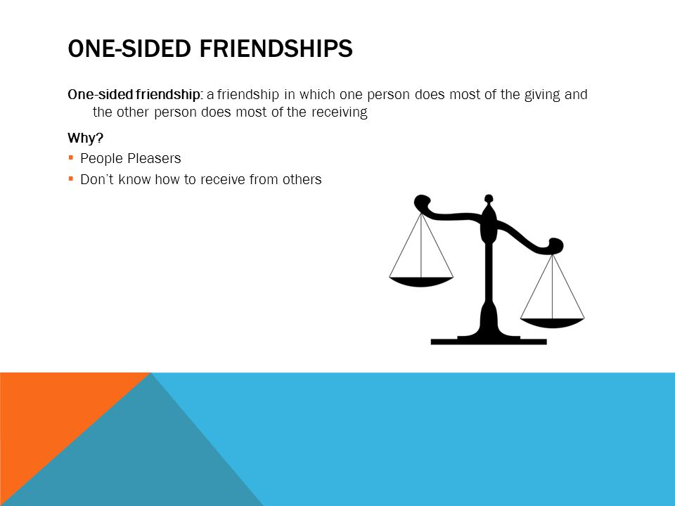 One-Sided Friendships