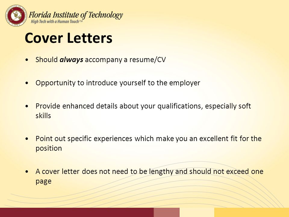 Creating an effective resume library association of for Should you always include a cover letter