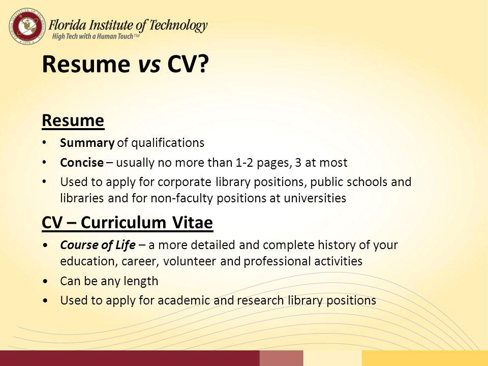 4 Resume Vs CV?  Resume Vs Cv