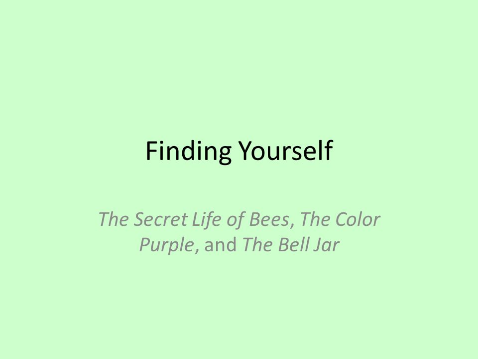 the secret life of bees the color purple and the bell jar ppt the secret life of bees the color purple and the bell jar