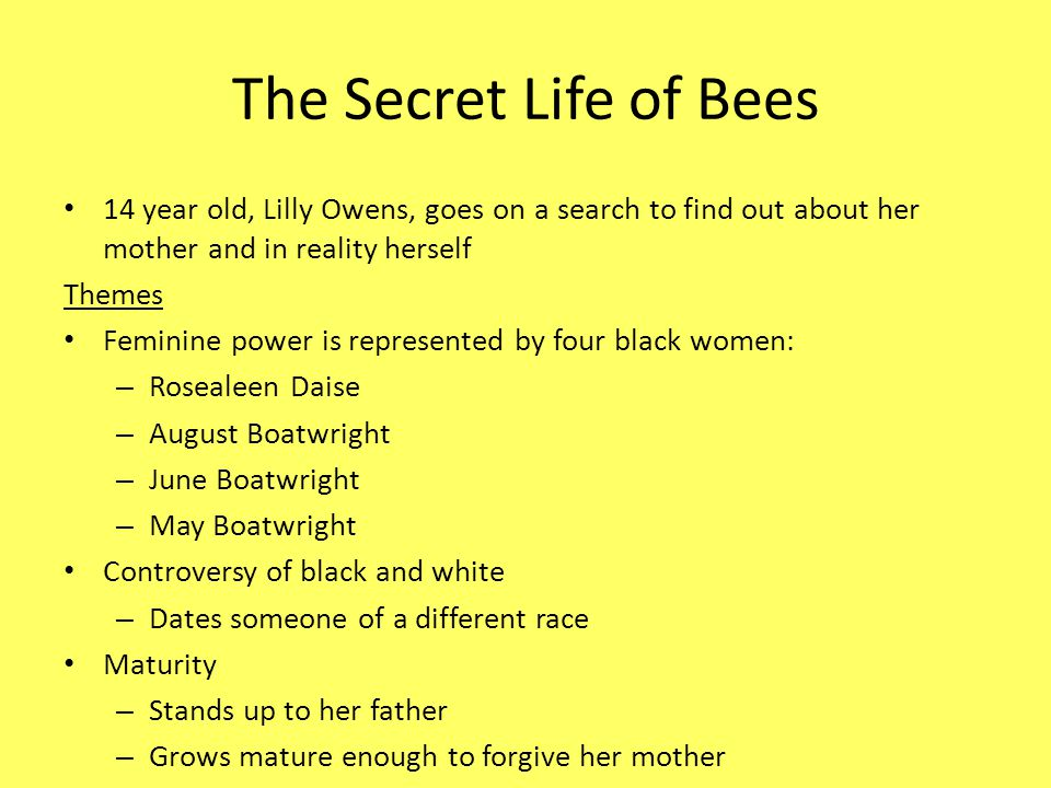 the secret life of bees the color purple and the bell jar ppt the secret life of bees 14 year old lilly owens goes on a search