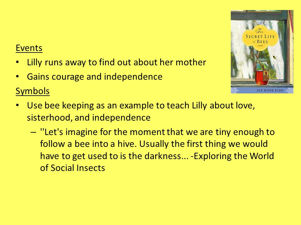 the secret life of bees the color purple and the bell jar ppt 4 events