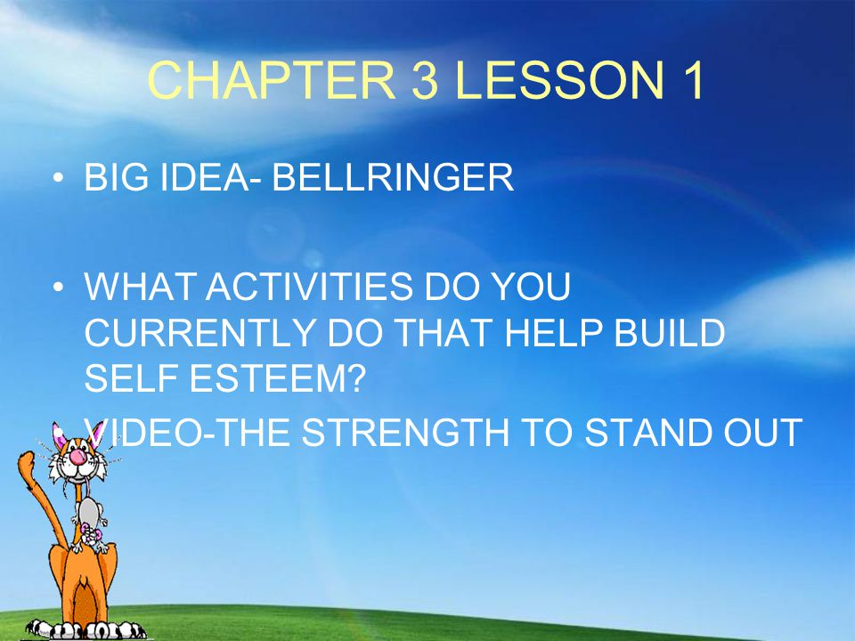 CHAPTER 3 LESSON 1 BIG IDEA- BELLRINGER