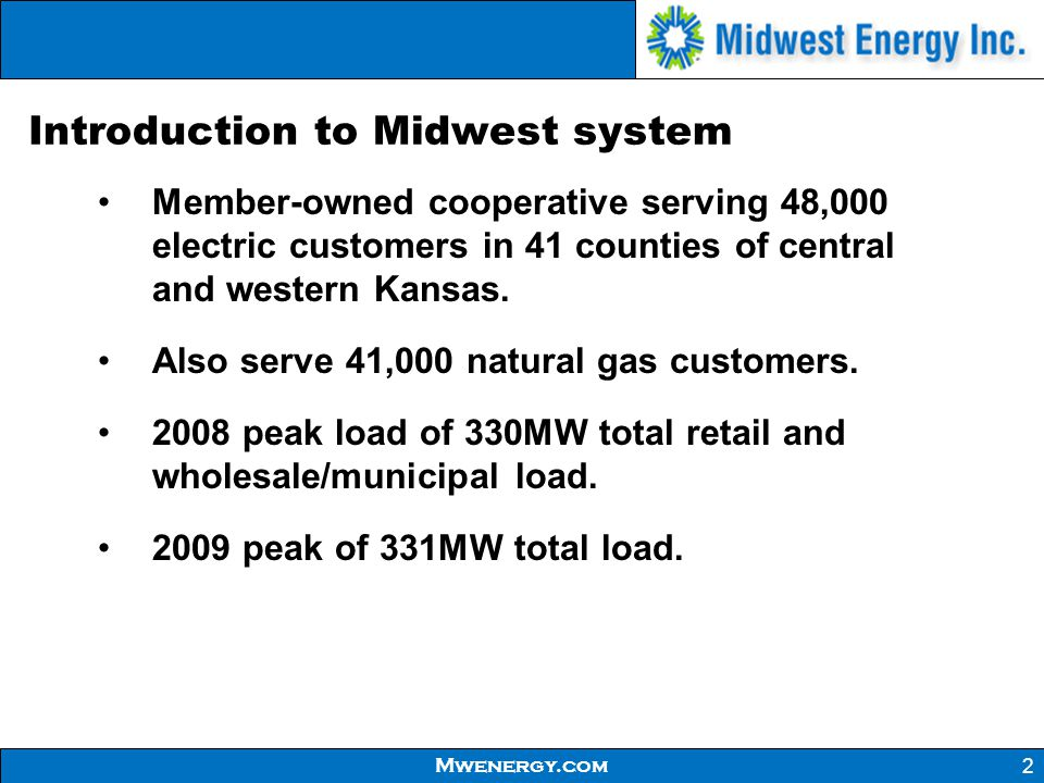 Introduction to Midwest system