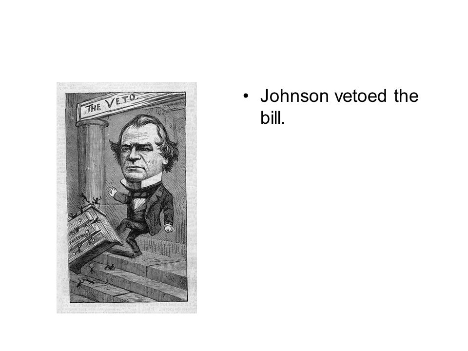 Johnson vetoed the bill.