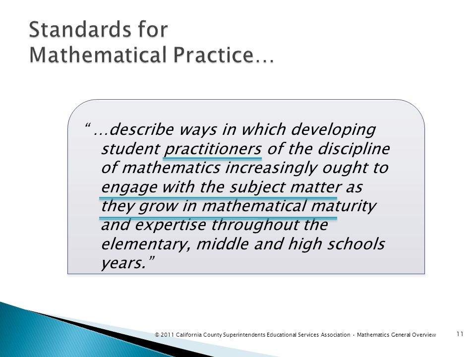 Standards for Mathematical Practice…