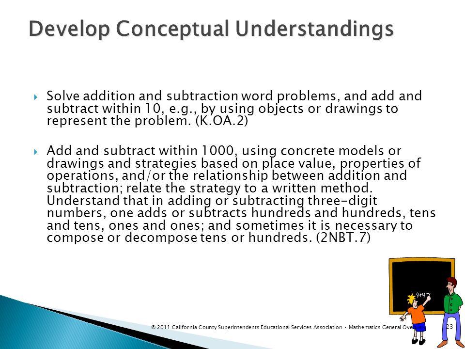 Develop Conceptual Understandings