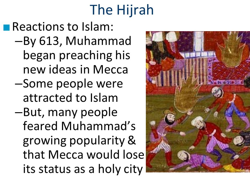 The Hijrah Reactions to Islam: