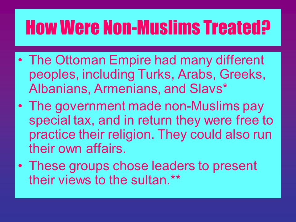 How Were Non-Muslims Treated