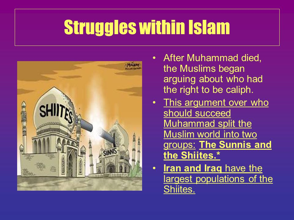 Struggles within Islam