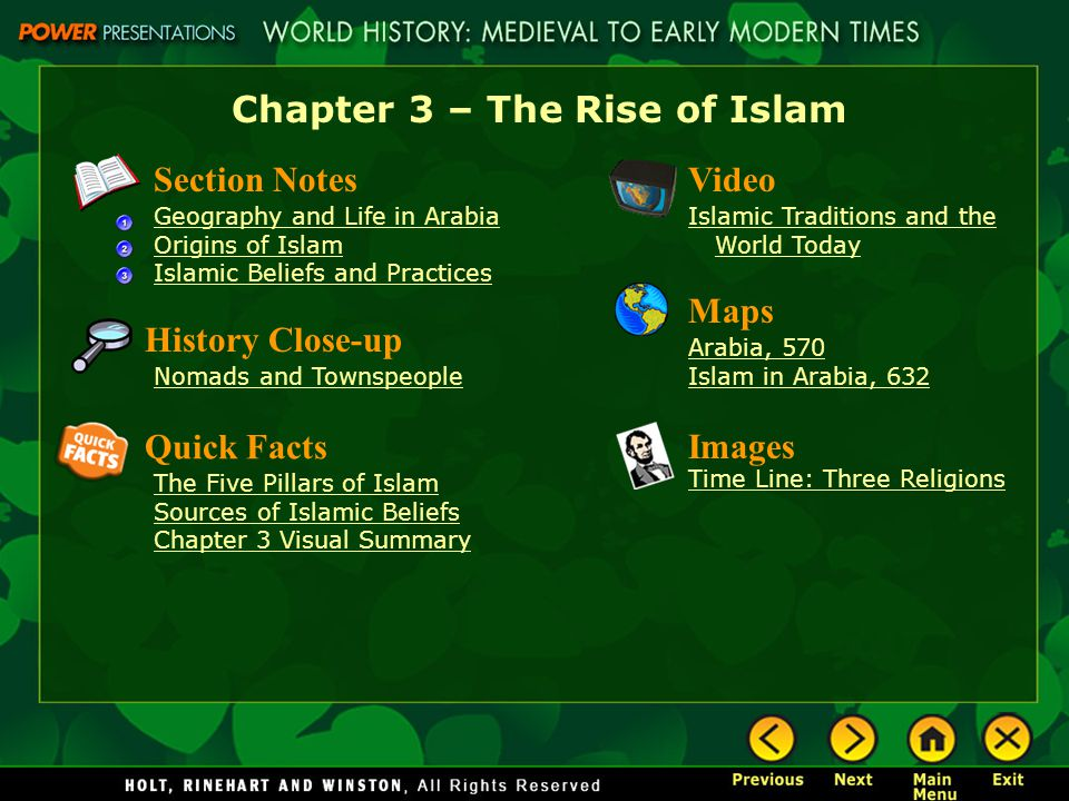 an overview of the practices and beliefs of the religion of islam Islam preaches peace, mercy, justice, tolerance, equality, love, truth, forgiveness, patience, morality, sincerity and righteousness islam is the religion that preaches the oneness of god, the oneness of mankind and the oneness of the message.