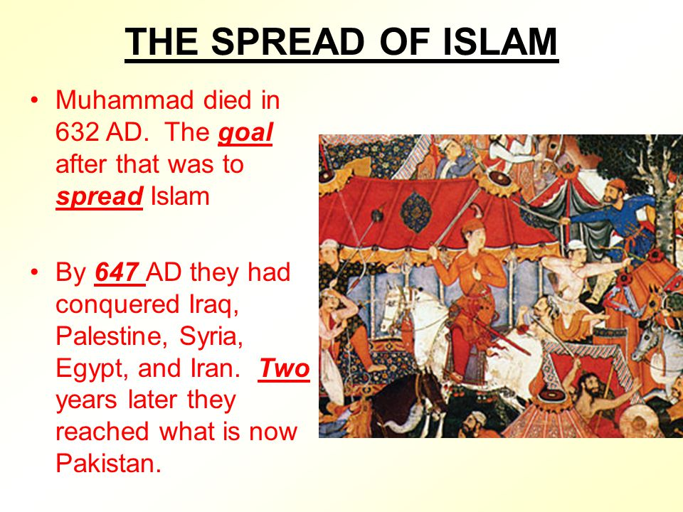 the spread of early islam after the death of mohammad Life of muhammad and islamic  tribes accept islam in early 632, muhammad makes his last visit or pilgrimage from madinah to makka  of islamic history: after .
