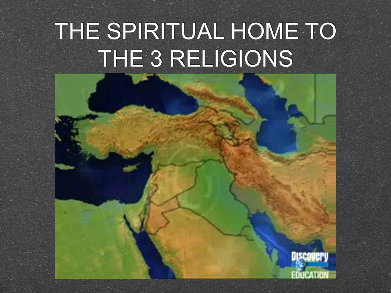 THE SPIRITUAL HOME TO THE 3 RELIGIONS