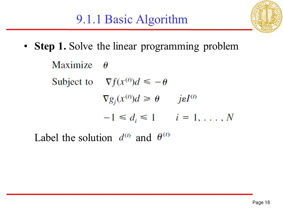linear programming basic concepts solution Sketching the solution set of a linear inequality to get the basic solution corresponding to any express the solution to the linear programming.