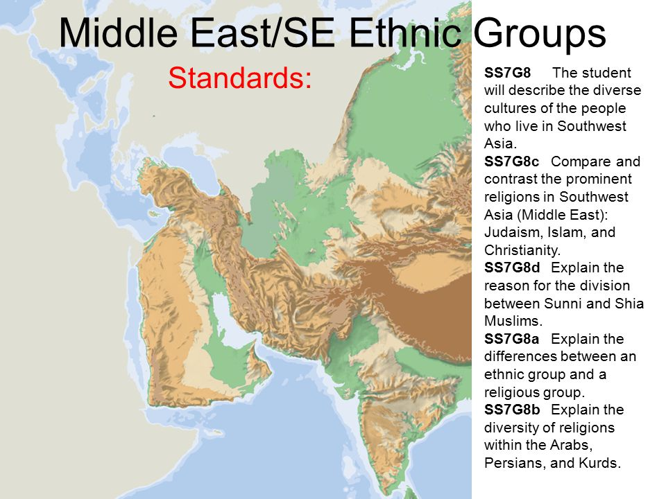 Middle EastSE Ethnic Groups  ppt video online download