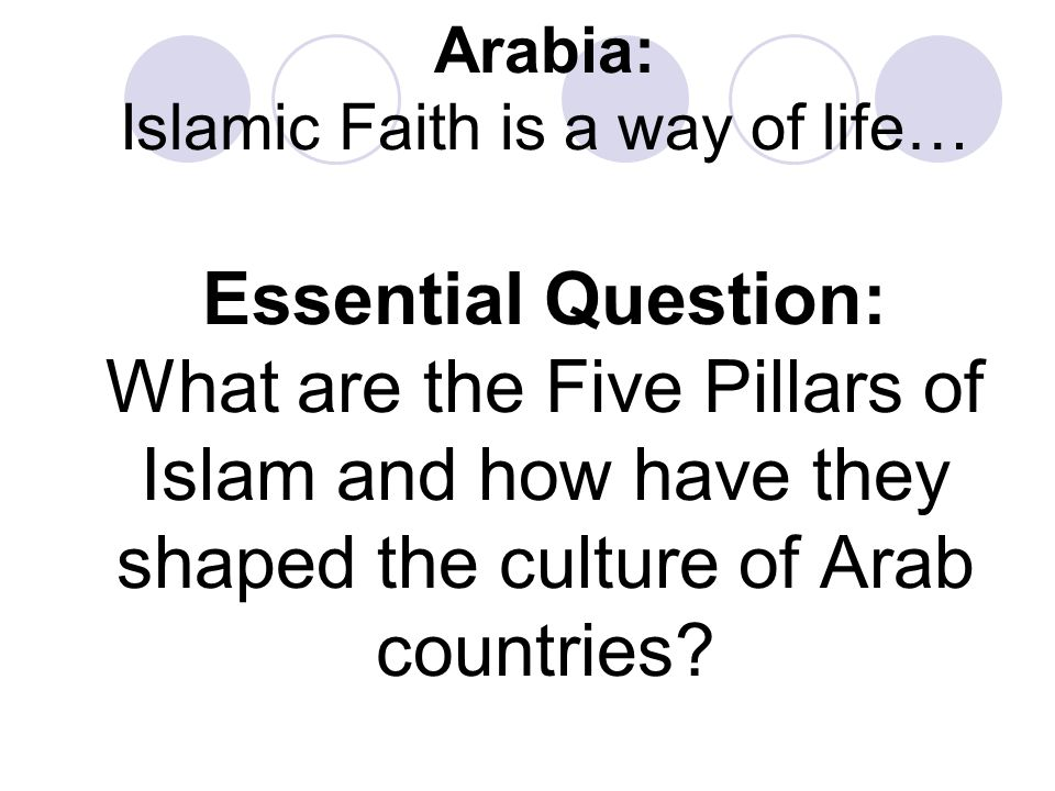 islamic ancient traditions the six pillars Understanding islam begins with looking at the basic beliefs (five pillars of faith) and required rituals (five pillars of worship) of muslims as well as the different islamic sects that muslims may belong to islam's five pillars of worship and five pillars of faith provide the supports of a .