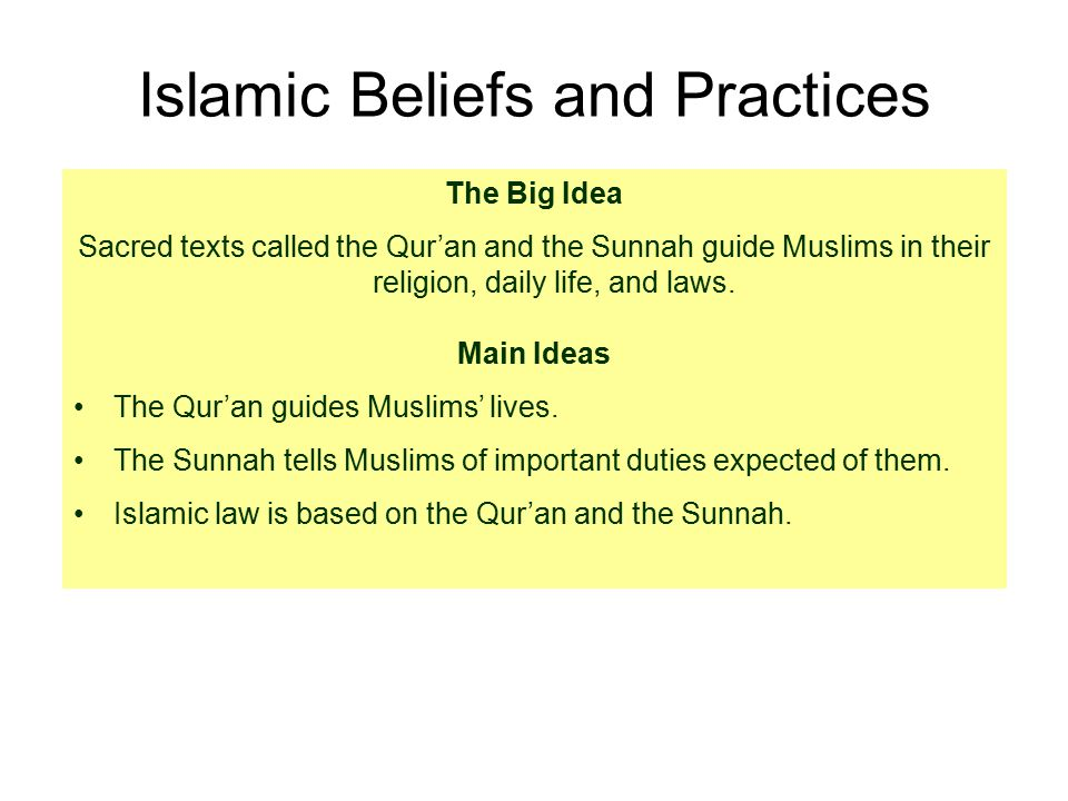 a study on islam beliefs and practices By sacred things he meant things set apart and forbidden—beliefs and practices which unite islam is based on the the study of religion and morality is.