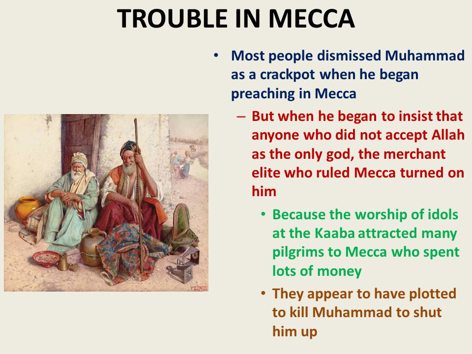 muhammad preaches in mecca essay A general view shows the saudi holy city of mecca, as seen from the top of   islam's prophet mohammed received his first message to preach.