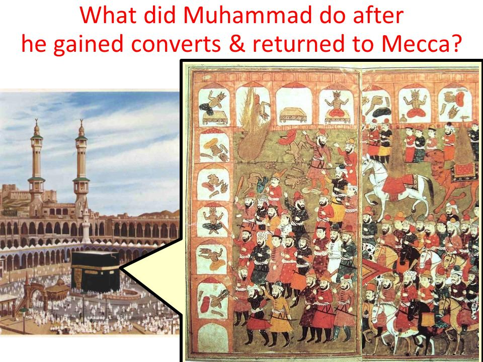 What did Muhammad do after he gained converts & returned to Mecca