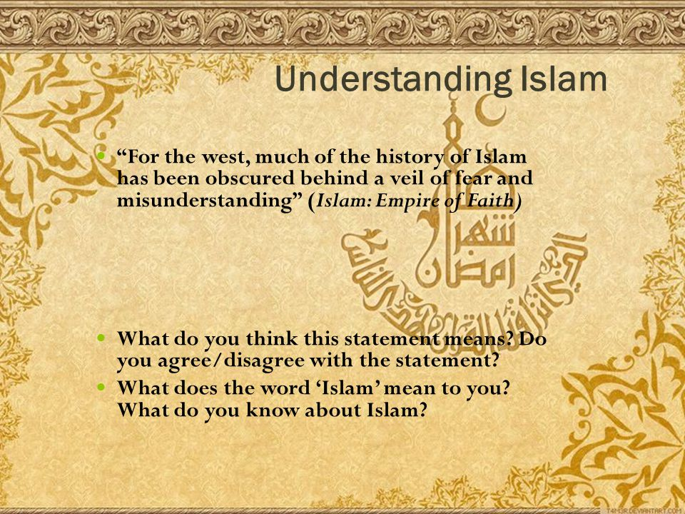 the fear and misconception of the islamic faith The top 5 misconceptions about islam but if you fear that you will not be just, then if you choose to learn more about islam as a religion.