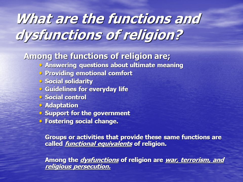 Religion: 3 Most Important Functions of Religion