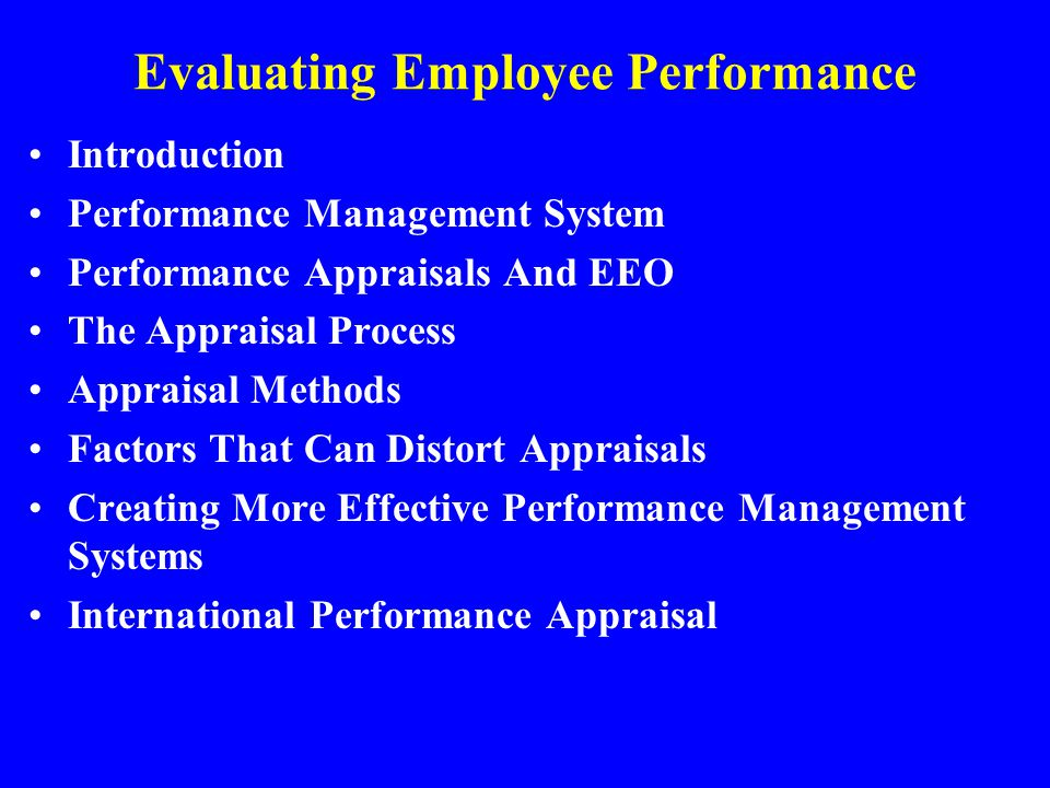 Evaluating Employee Performance  Ppt Video Online Download