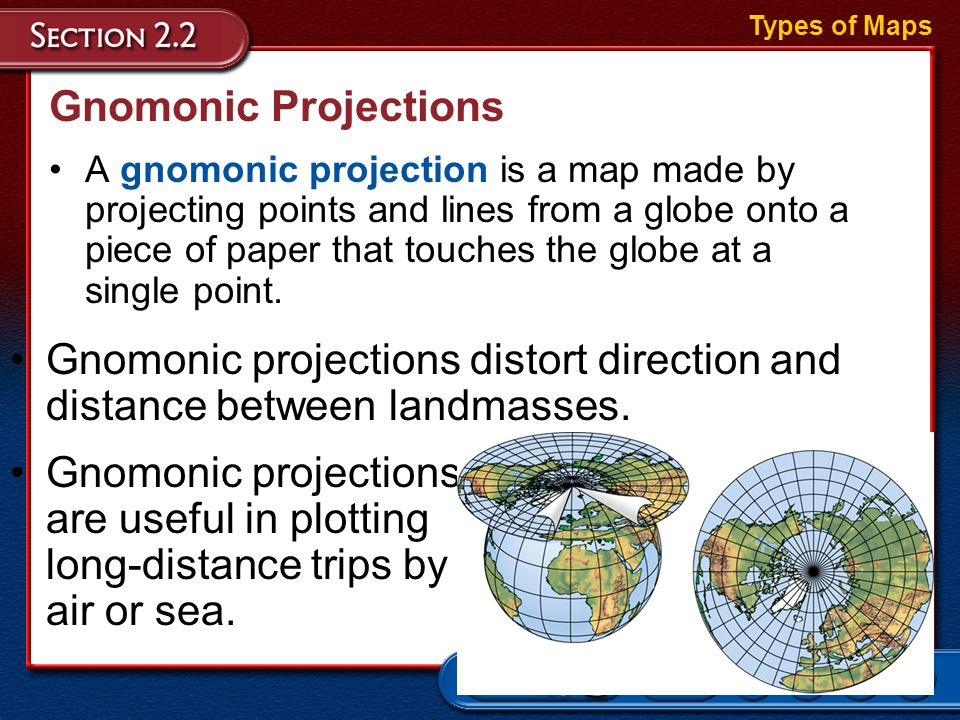 gnomonic projection Gnomonic projection classification azimuthal syntax gnomonic graticule the graticule described is for a polar aspect meridians: equally spaced straight lines intersecting at the central.