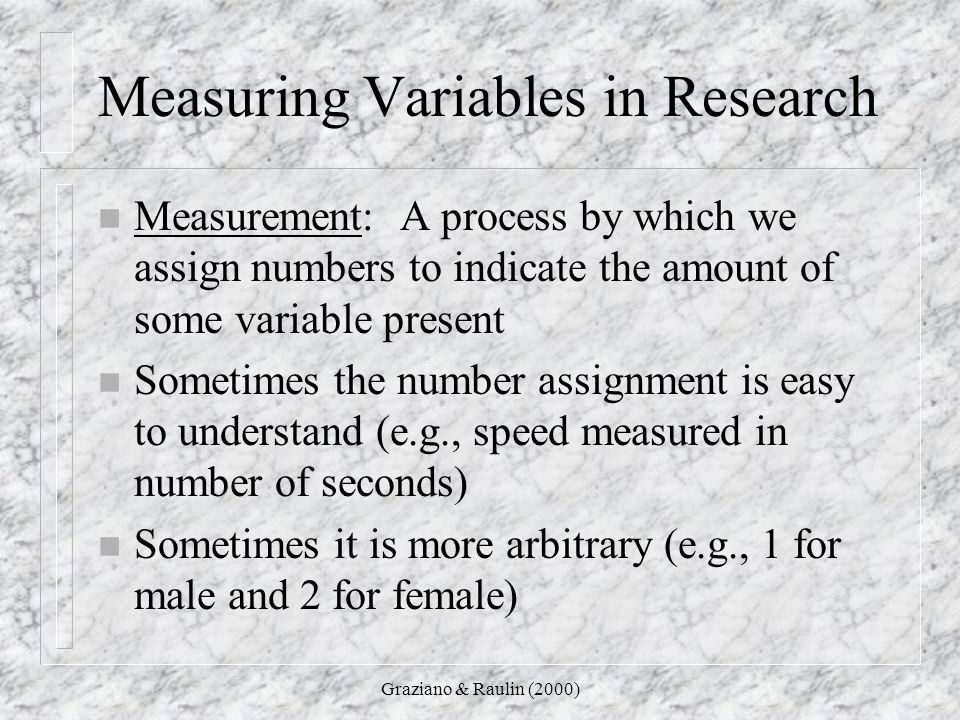 Measuring Variables in Research