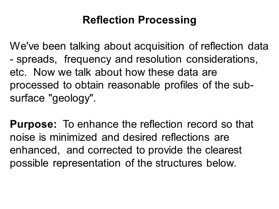 Reflection Processing