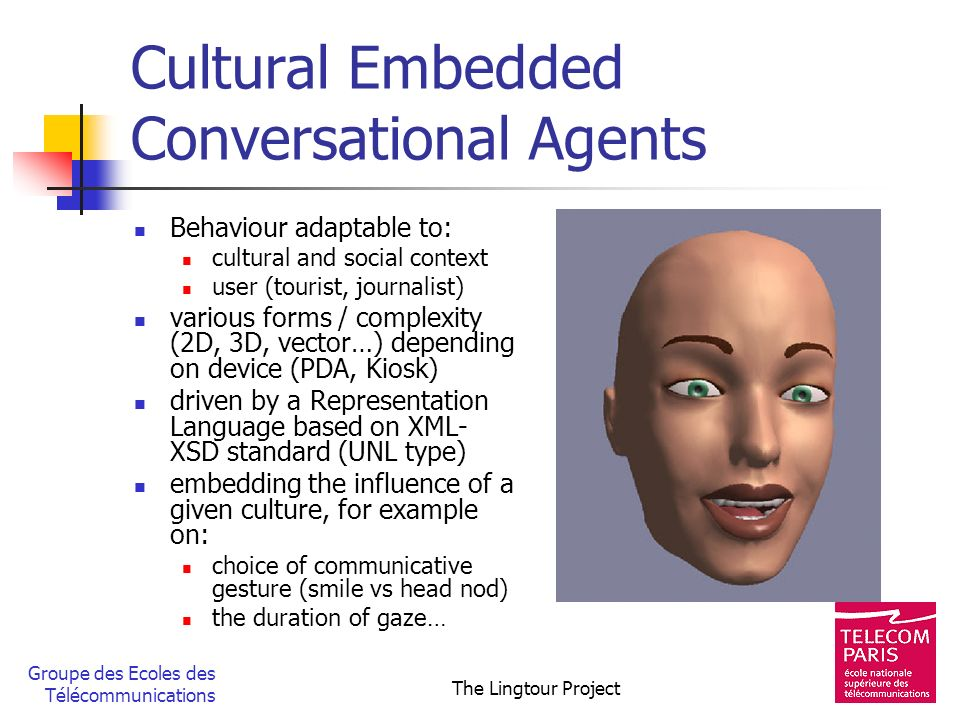 Cultural Embedded Conversational Agents