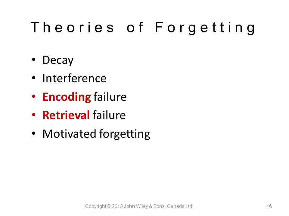 retrieval failure as a method of forgetting