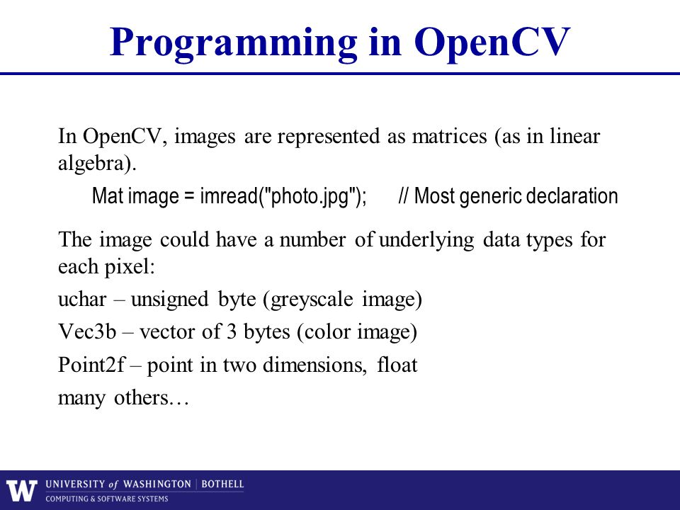 Lecture 2 Imaging Geometry And Opencv Ppt Video Online