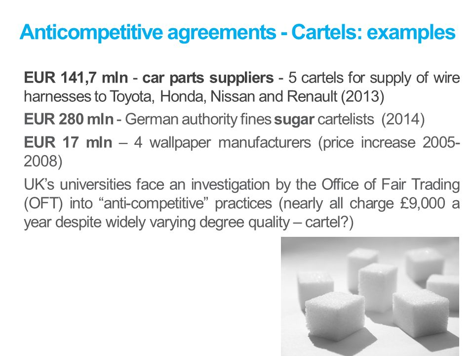 Anticompetitive+agreements+ +Cartels%3A+examples european competition law ppt download wire harness cartel at alyssarenee.co