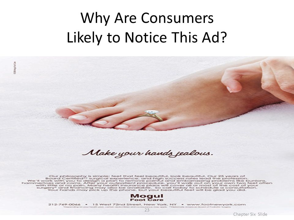 Why Are Consumers Likely to Notice This Ad